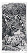 Gray Fox Hand Towel