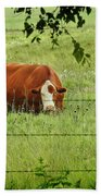 Grazing Cow Bath Towel