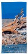 Great Blue Driftwood Bath Towel