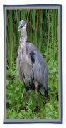 Great Blue Heron Collage Bath Towel
