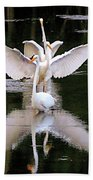Great Egret Ballet Bath Towel