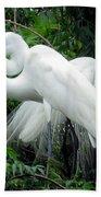 Great Egrets 10 Bath Towel