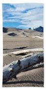 Great Sand Dunes National Park Driftwood Landscape Bath Towel