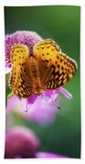 Great Spangled Fritillary Butterfly Bath Towel