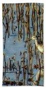 Greater Yellowleg In Reeds Bath Towel