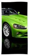 Green 2008 Dodge Viper Srt10 Roadster Bath Towel