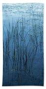 Green And Blue Serenity - Smooth Wetland Morning Bath Towel