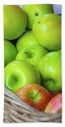 Green Apples Bath Towel