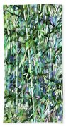 Green Bamboo Tree In A Garden Bath Towel