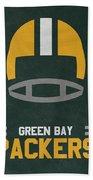 Green Bay Packers Vintage Art Bath Towel