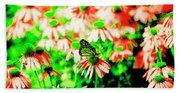 Green Butterfly Bath Towel