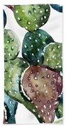 Green Cactus  Hand Towel
