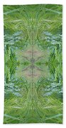 Green Fractal Bath Towel