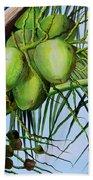 Green Coconuts-02 Bath Towel