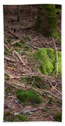 Green Covered Rock Hand Towel