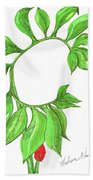 Green Dragon With Fruit Cluster Hand Towel