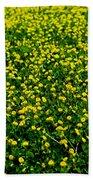 Green Field Of Yellow Flowers 3 Bath Towel