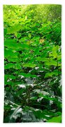 Green Foliage Bath Towel