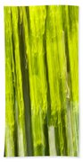 Green Forest Abstract Bath Towel