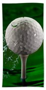 Green Golf Ball Splash Bath Towel