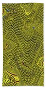 Green Grass Behind The Fence #9 Bath Towel