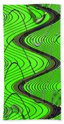 Green Grass Behind The Fence Bath Towel