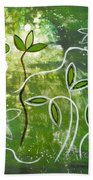 Green Growth Hand Towel