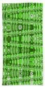 Green Heavy Screen Abstract Bath Towel