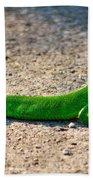 Green Lizard Bath Towel