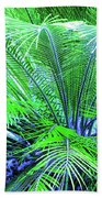 Green Palm Bath Towel