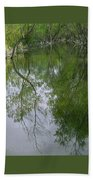 Green Peace - Trees Reflection Bath Towel