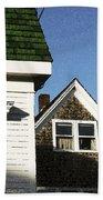 Green Roof Stonington Deer Isle Maine Coast Bath Towel