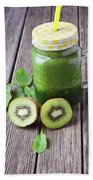 Green Smoothie Hand Towel