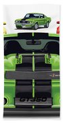 Green Stang Bath Towel