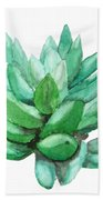 Green Succulent  Bath Towel