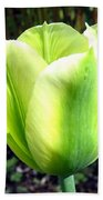 Green Tulip Bath Towel
