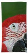 Green-winged Macaw Close Up Bath Towel