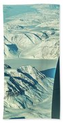 Greenland From Flight Level 380 Bath Towel