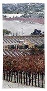 Greenville Vineyard In Snow Bath Towel