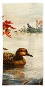 Greenwinged Teal Ducks Bath Towel