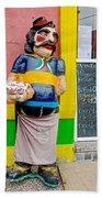 Greeter At Pizzeria In La Boca Area Of Buenos Aires-argentina- Bath Towel