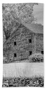 Grey Barn On A Grey Day Hand Towel