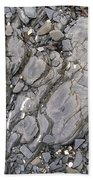 Grey Rocky Shore. Bath Towel