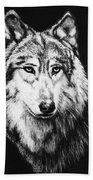 Grey Wolf Hand Towel by Melodye Whitaker