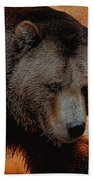 Grizzly Bear Painted Bath Towel