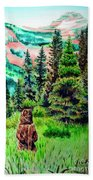 Grizzly Country Hand Towel