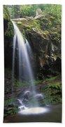 Grotto Falls In The Great Smokies Bath Towel