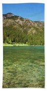 Grotto Pond Canmore Alberta Bath Towel