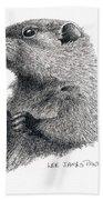 Groundhog Or Woodchuck Bath Towel
