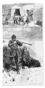 Grouse Hunting, 1887 Bath Towel